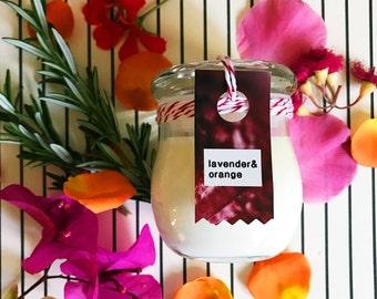 Lavender + Orange SOY Aromatherapy Candle