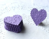 Heart Stickers, Heart Envelope Seals, Paper Hearts, Die Cut Hearts, Embossed Hearts