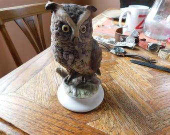 Vintage Lefton Owl Figurine marked KW866