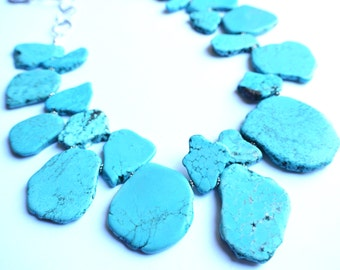 The Times Square- Turquoise Howlite Statement Necklace