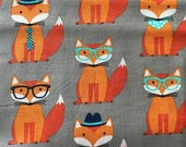 Weighted Blanket - Adult or Child - Fox Foxes - Choose your weight (up to 15 lbs) and minky color - custom