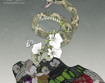 Speak No Evil Botanical Print