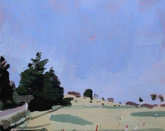 Dear April, Original Spring Landscape Painting on Paper, Stooshinoff