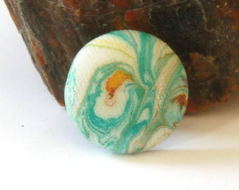Pretty Marbled Cabochon for Bead Embroidery Bezeling Embellishment or Making into a Pendant