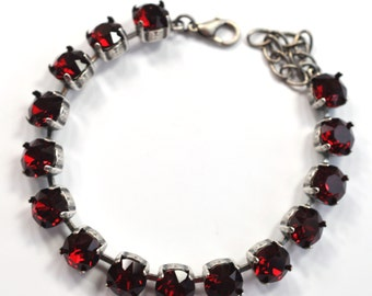 Ruby Red Slippers Crystal Bracelet kit = DIY Jewelry