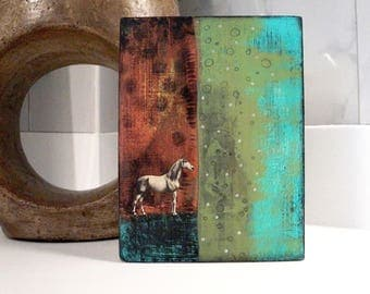 Abstract Painting- Horse Modern Decor for the Modern Farmhouse, Wall Art, Horse Lover Gift