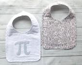Pi Math Symbol Baby Bib - Math Baby Bib - Nerd Baby Bib - Math Baby Gift - Pi Baby Bib - Math Geek Baby Gift - Pi - Numbers Bib - Geek Bib