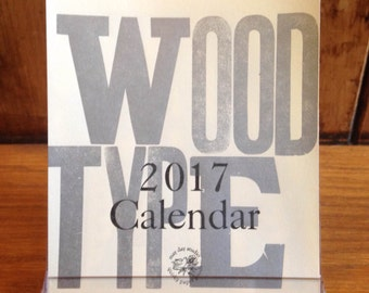 Wood Type 2017 Desk Calendar