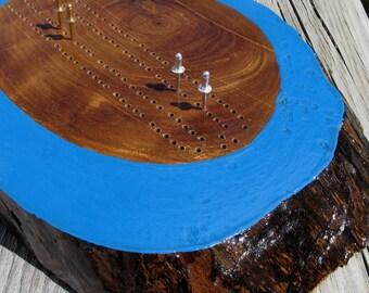 Reclaimed Black Walnut Slab Cribbage Board