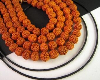 100 Baby Rudraksha Mala Beads, 5mm, FULL Strand, Rudraksha Bead, Rudraksha Mala Bead,  Rudraksha Seed WD10