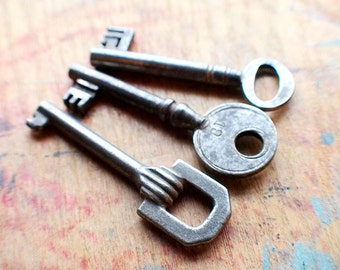 Fancy Antique Skeleton Key Trio // Fall Sale 15% OFF - Coupon Code SAVE15