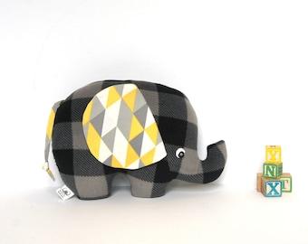 Extra Large Elephant Pillow, Stuffed Elephant Toy, Elephant Softie, Baby Boy Gift, Boys Nursery Decor