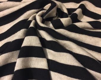 Stripes Stretch  Knit Fabric 2 Yards