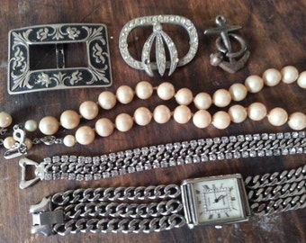 Repurpose Jewelry ... Glass Pearls Rhinestone Bracelet Watch More ... Jewelry Supply, Steampunk