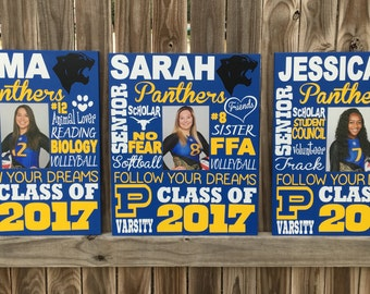 Custom High school, Senior Gift, Subway art sign, Graduation Sign, Seniors 2017, Photo Prop