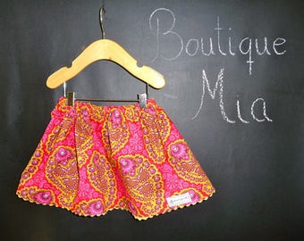 Sample SALE - Will fit Size 6-12 month to 12-24 month - Ready to MAIL - SKIRT - Joel Dewberry - Paisley - by Boutique Mia