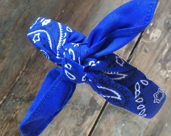 Bandana Knot Tied Head Wrap Rock Fashion Headband (ROYAL BLUE)
