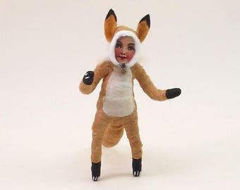 Spun Cotton Vintage Style Fox Child
