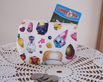 Card Clutch Zipper Small Essential Oils Case Gift Card Holder Shopkins  Made in the USA