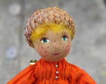 Autumn Wishes Waldorf  Doll Pin