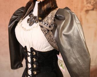 Size M Ink & Parchment Fur Collar Jacket