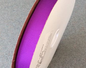 100 Yards OFFRAY Grosgrain Purple Ribbon