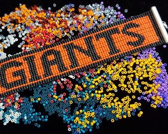 San Francisco Giants bead-woven bracelet