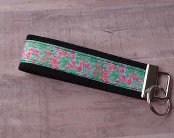 Palm Trees Key Fob//Lilly