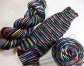 Handpainted Superwash Merino/Nylon 4-ply Sock Yarn -- STRIPING for Socks or Gloves -- Got Thrones? (Game of Thrones)