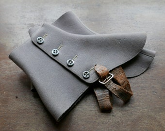 Vintage Grey Four Button Spats