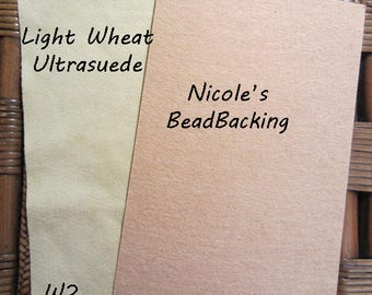 Ultrasuede Light Wheat with Free Nicoles BeadBacking  Beading Fabric Bead Foundation Material Textiles W2