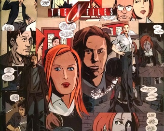 X-Files Comic Decoupaged Canvas