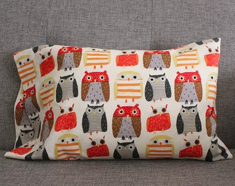 Owl Toddler Pillowcase - fits 13 x 18 Travel Pillow