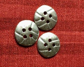 Plain Antique Silver  Designer Button  B18  7307