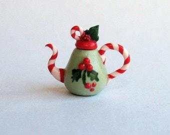Handmade Miniature Cute Snowman Teapot by C. Rohal