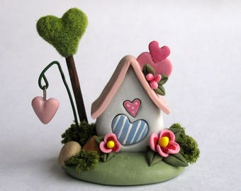 Miniature  Sweetheart Fairy House  OOAK by C. Rohal