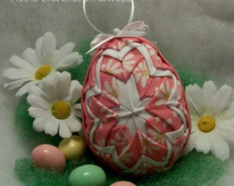 No Sew Quilted Fabric Easter Egg Ornament Pattern