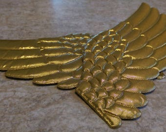 DESTASH 1 Pair of Large Gold Fabric Angel Wings