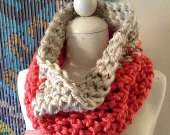 IN STOCK - Single Wrap Multicolored Infinity Cowl
