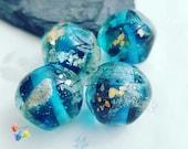 Lampwork Glass Beads Spring River Rocks ... PER BEAD