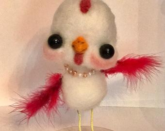 The chicken Dance Ooak  art doll