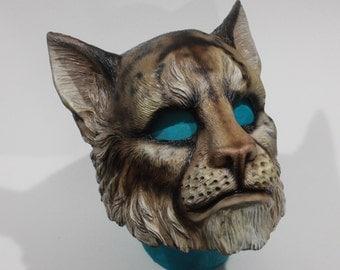 Handpainted Small Cat Khajiit Mask