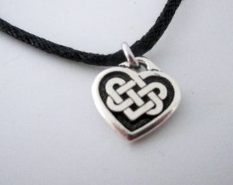 Adjustable Heart with Celtic Knot Bracelet