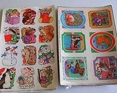 Vintage Current Sticker Sheets Animals Christmas Outdoors