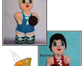 Basketball Players Crochet Patterns, basketball girl, basketball boy, crochet basketball