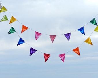 DIY 10' Holiday Party Banner KIT: Nursery, Birthday, Wedding Decoration, Baby Shower Bunting, Rainbow Garland by Handwork Studio