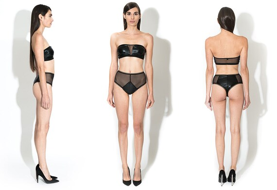 Lalita Thong Hi-Waisted, See Through Lingerie, Boudoir Lingerie.