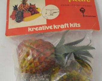 Vintage Beaded Fruit kit New unopened Pineapple