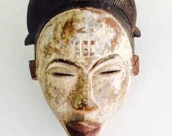 Antique Punu Mukudj Okuyi Mask Of Gabon Africa 1. African Mask. 18th-19th Century