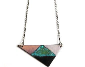 Triangle Enamel Pendant
